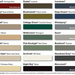 COLORBOND® Fence Colour Chart 2016 Canberra
