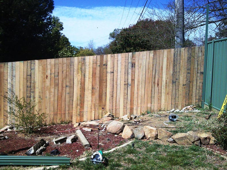 timber paling fence photo - canberra