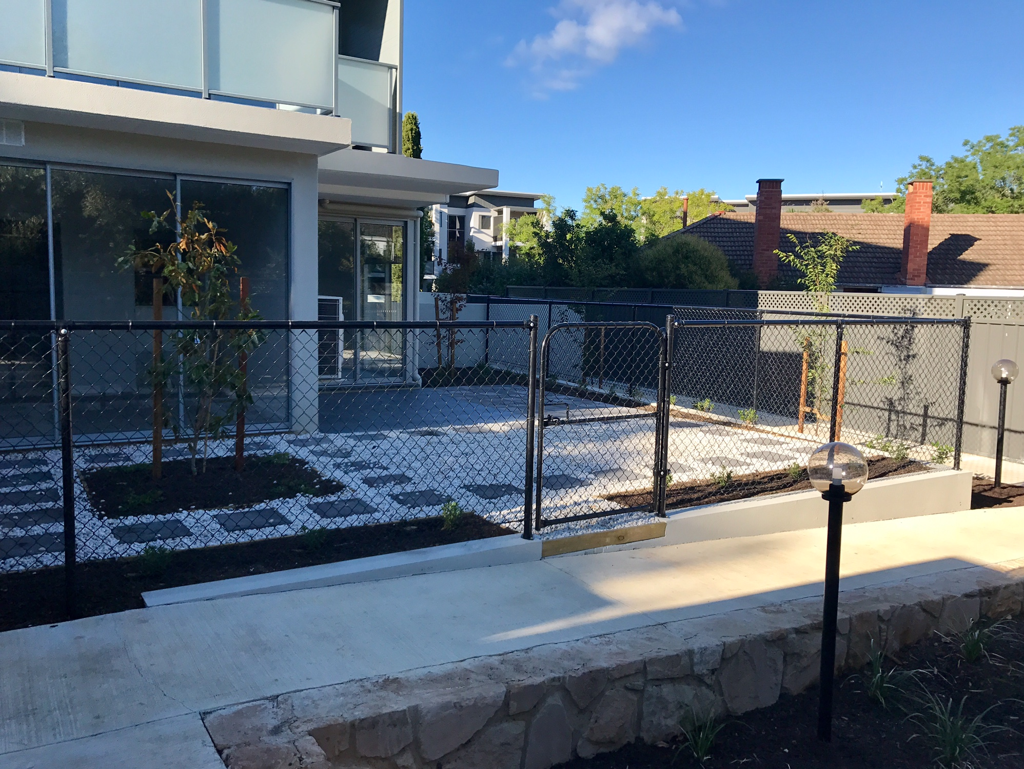 Photo of Installation of Black Chain-wire Fence in Canberra
