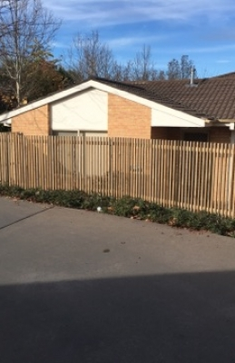 Timber Picket Fencing Photo in Canberra